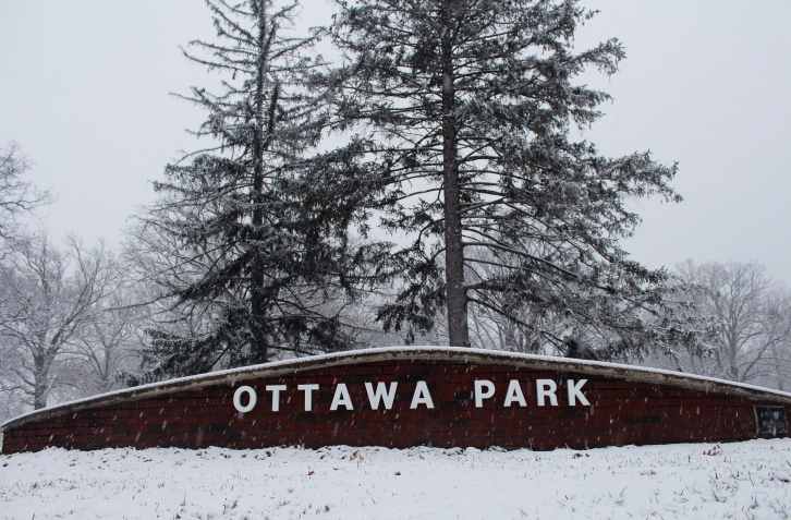 Ottawa Park. Toldeo OH. December 23, 2017. Morning. Brian Purdue