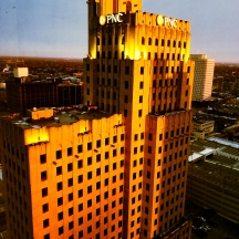 """Invest in Gold"" Sunrise on the PNC Building. Downtown Toledo, OH. December 11, 2017. Brian Purdue"